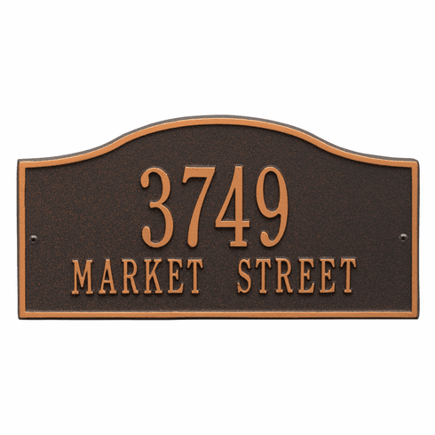 Rolling Hills Standard Wall Two Line Plaque in Oil Rubbed Bronze