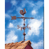 "Rooster Weathervane - 30"" Weathervane w/Full Bodied Rooster Ornament"