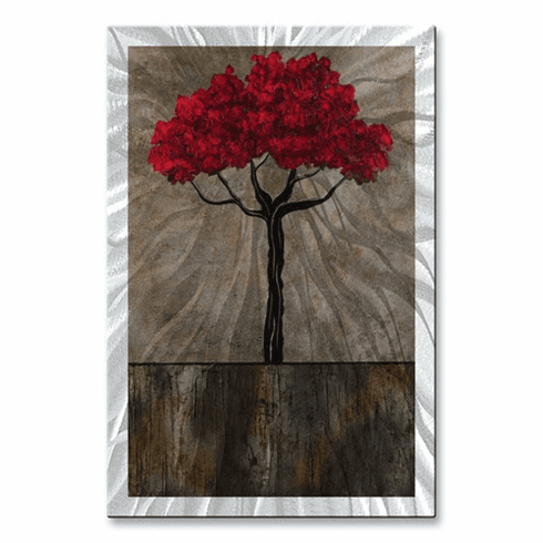Rooted in Strength Metal Wall Hanging