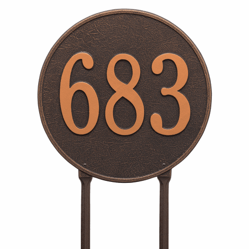 Round 15 inches Diameter Lawn One Line Plaque in Oil Rubbed Bronze
