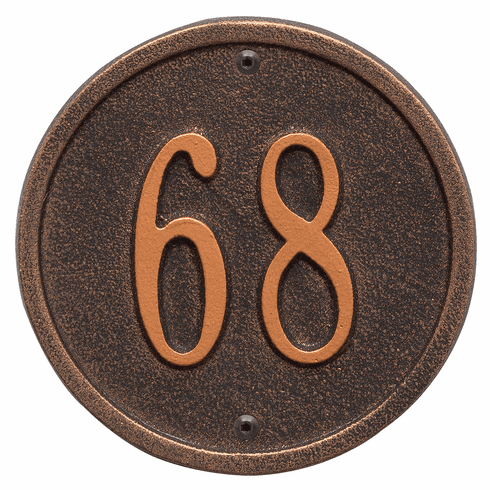 Round 6 inches Diameter Wall One Line Plaque in Oil Rubbed Bronze