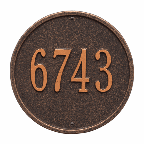 Round 9 inches Diameter Wall One Line Plaque in Oil Rubbed Bronze