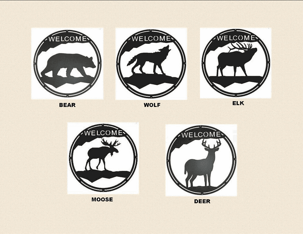 ROUND WELCOME SIGNS - WILDLIFE