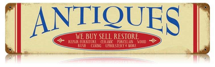 Rustic Antiques Sign - Collectibles Sign