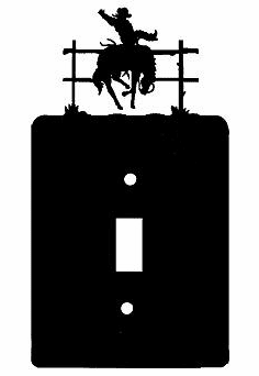 Rustic Bucking Bronco Smooth Edged Switch/Wall Plate 12 Styles