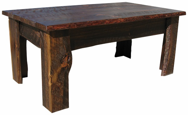 Rustic Coffee Table, 42 inch wide