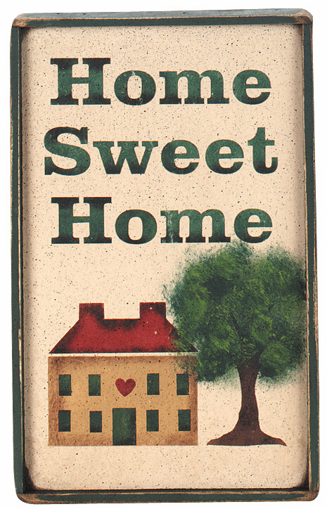 Rustic Decorating Idea - Home Sweet Home hse