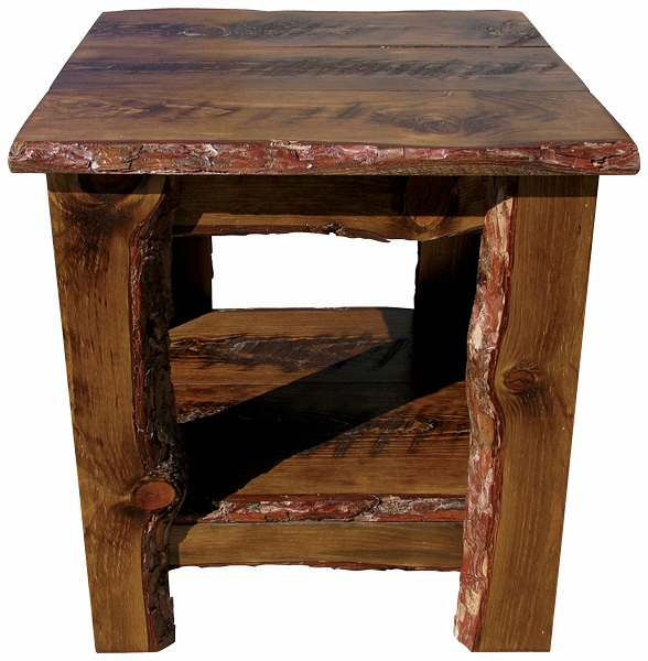 Rustic End Table, 22 inch wide