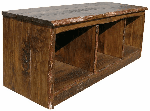 Rustic Entryway Bench, 48 inch wide