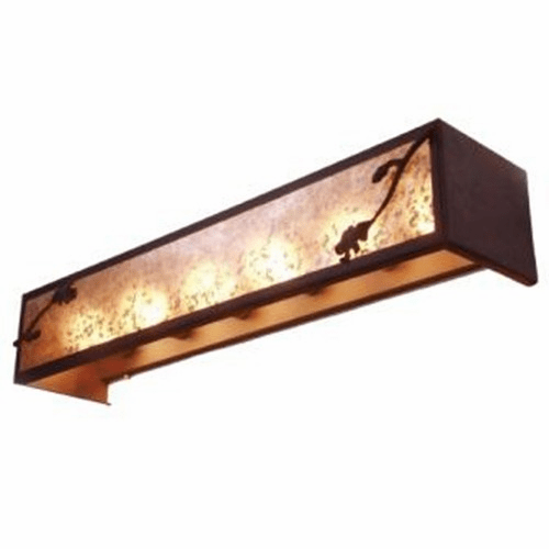 Rustic Lodge Acorn 6 Light Vanity Light