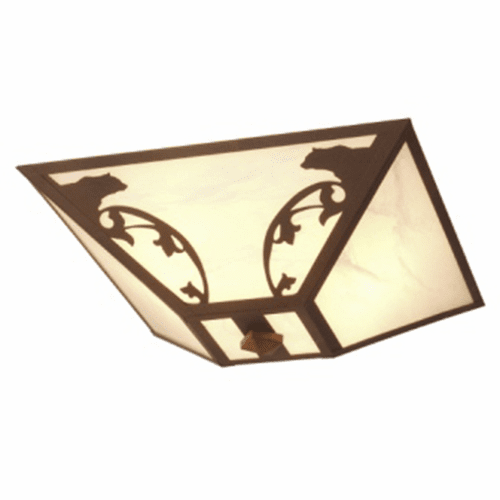 Rustic Lodge Bavarian Bear Drop Ceiling Light