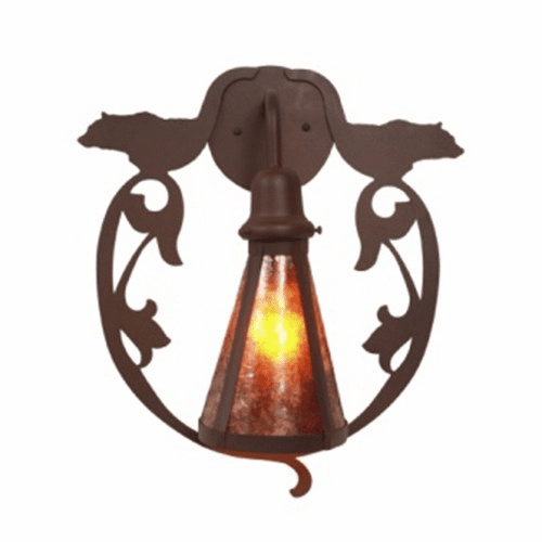 Rustic Lodge Bavarian Bear Wall Sconce