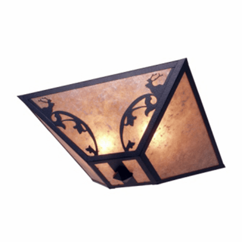 Rustic Lodge Bavarian Elk Drop Ceiling Light