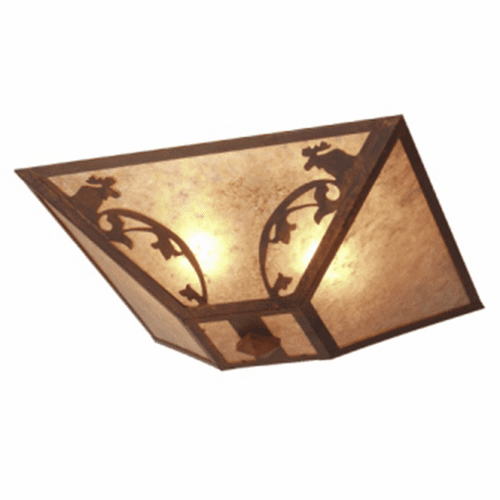 Rustic Lodge Bavarian Moose Drop Ceiling Light
