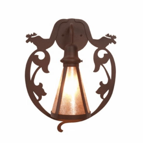 Rustic Lodge Bavarian Moose Wall Sconce