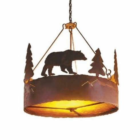 Rustic Lodge Bear Chandelier