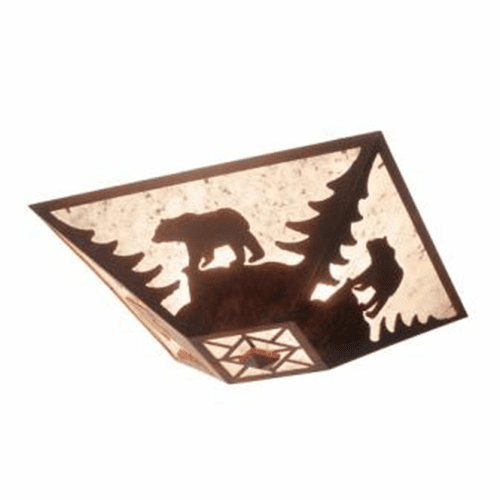 Rustic Lodge Bear Drop Ceiling Light