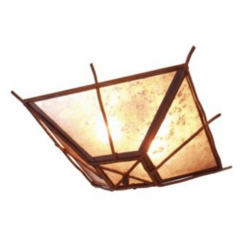 Rustic Lodge Bundle of Sticks Drop Ceiling Light