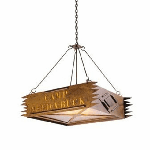 Rustic Lodge Camp (Personalized) Chandelier