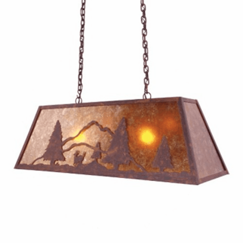 Rustic Lodge Canyon Swag Deer Pendant Light