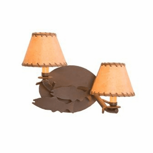 Rustic Lodge Fish Timber Wall Sconce