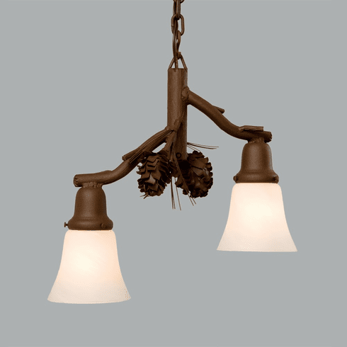 Rustic Lodge Glacier - Ponderosa Pine - 2 Light Pendant