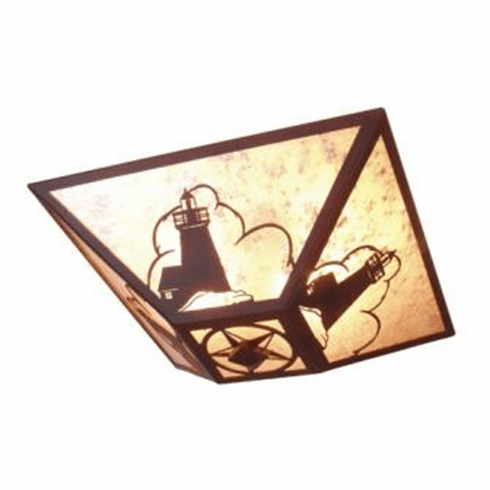 Rustic Lodge Light House Drop Ceiling Light