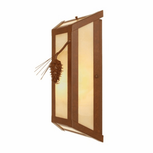 Rustic Lodge Lone Ponderosa Pine Wall Sconce
