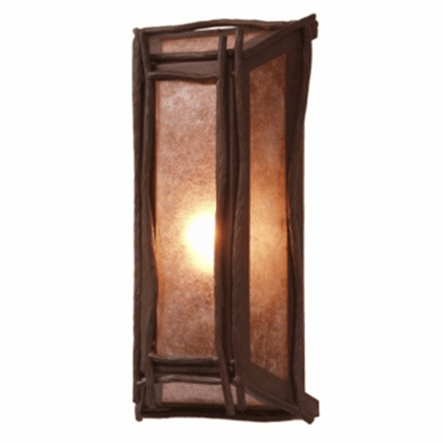 Rustic Lodge Lone Sticks Wall Sconce