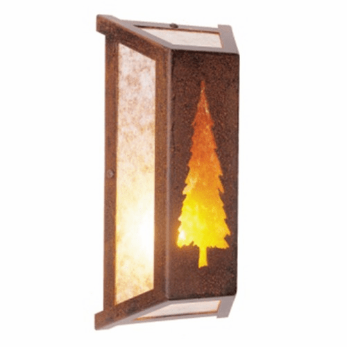 Rustic Lodge Lone Tree Wall Sconce