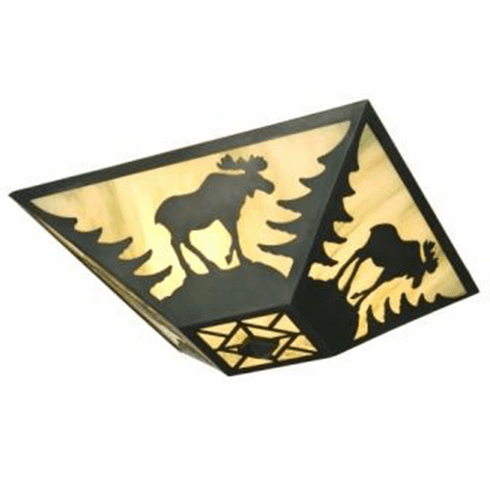 Rustic Lodge Moose Drop Ceiling Light