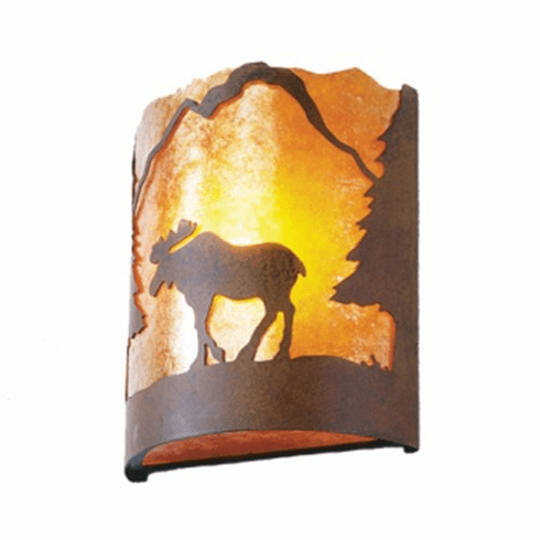 Rustic Lodge Moose Timber Ridge Wall Sconce