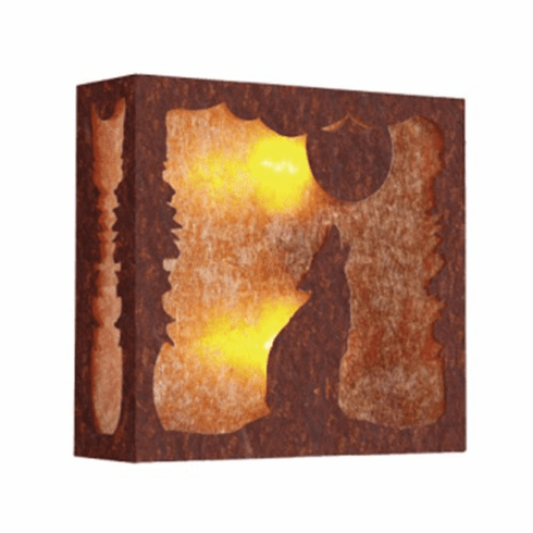 Rustic Lodge Nature Bark At The Moon Wall Sconce