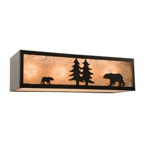 Rustic Lodge Nature Bear 4 Light Vanity Light
