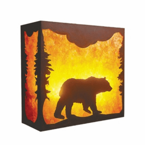 Rustic Lodge Nature Bear Wall Sconce