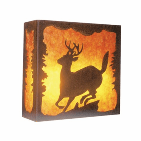 Rustic Lodge Nature Deer Wall Sconce