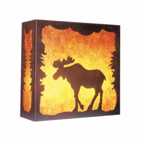 Rustic Lodge Nature Moose Wall Sconce
