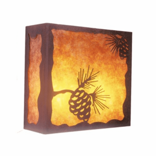 Rustic Lodge Nature Pinecone Wall Sconce