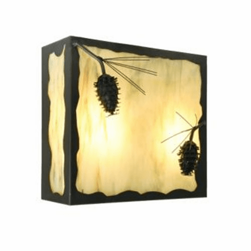 Rustic Lodge Nature Ponderosa Pine Wall Sconce