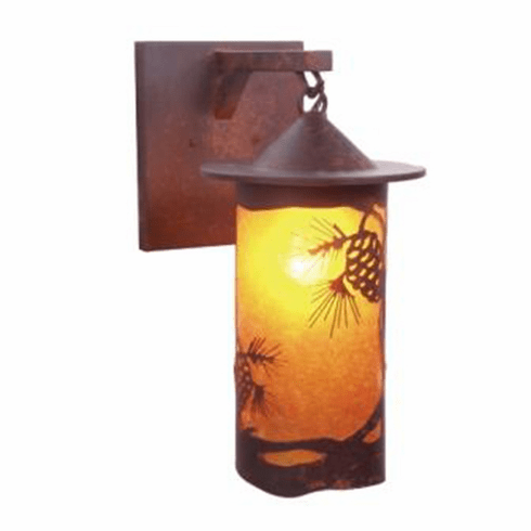 Rustic Lodge Pasadena Pinecone Hanging Sconce