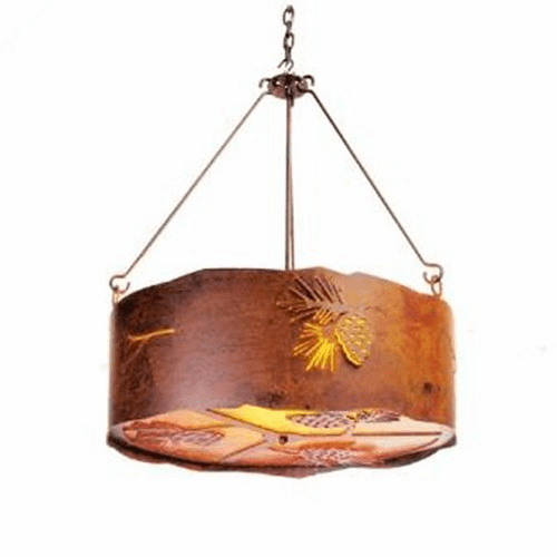 Rustic Lodge Pinecone Chandelier