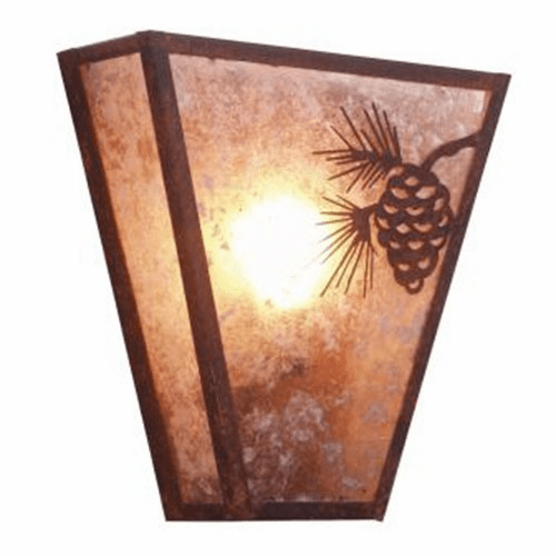 Rustic Lodge Pinecone Vegas Sconce