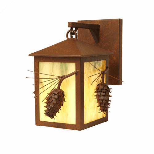 Rustic Lodge Ponderosa Pine Large Hanging Sconce