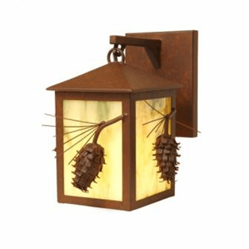 Rustic Lodge Ponderosa Pine Small Hanging Sconce