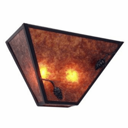 Rustic Lodge Ponderosa Pine Tapered Wall Sconce