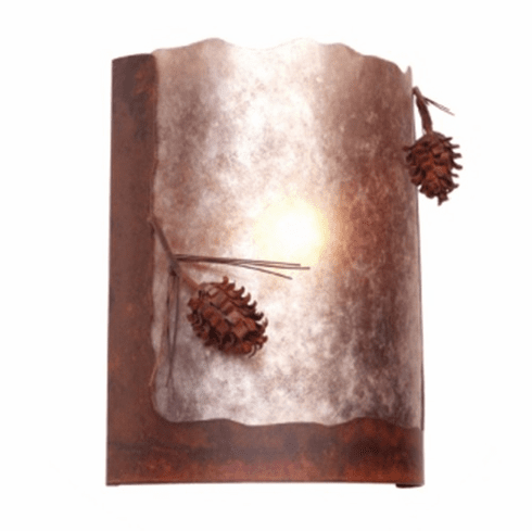 Rustic Lodge Ponderosa Pine Timber Ridge Wall Sconce