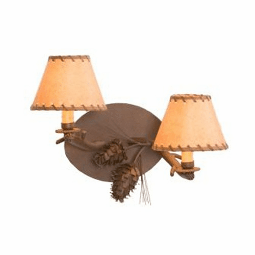 Rustic Lodge Ponderosa Pine Timber Wall Sconce