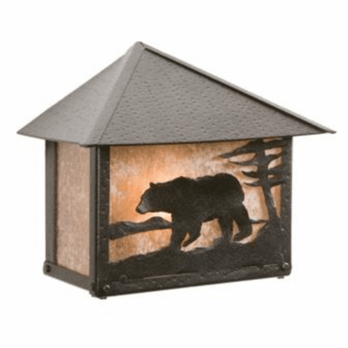 Rustic Lodge Rainier Bear Wall Sconce