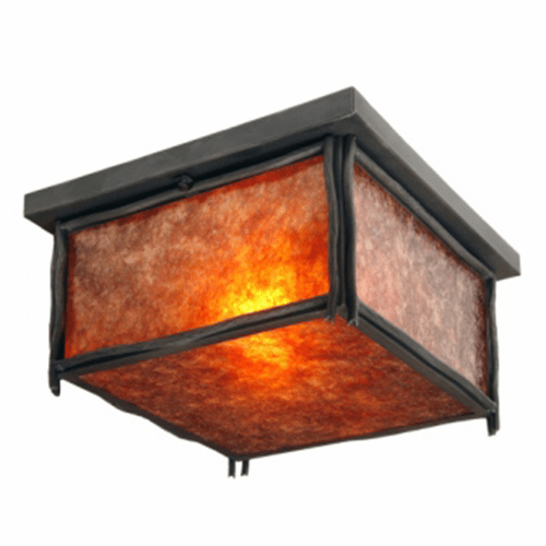 Rustic Lodge Sticks Squaroka Ceiling Light
