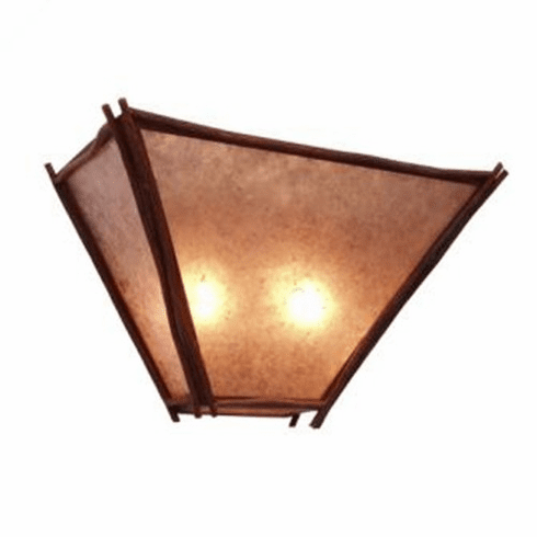Rustic Lodge Sticks Tapered Wall Sconce